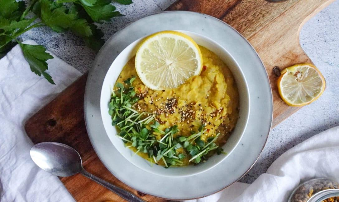Zitronen Linsen curry