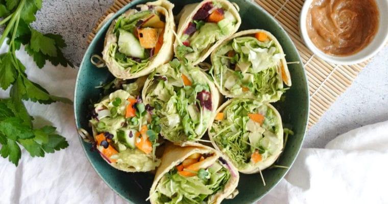 Rohkost-Burrito vegan