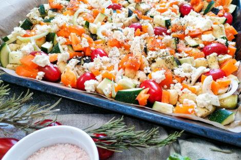 Gnocchi Gemüse Auflauf vom Blech vegetarisch