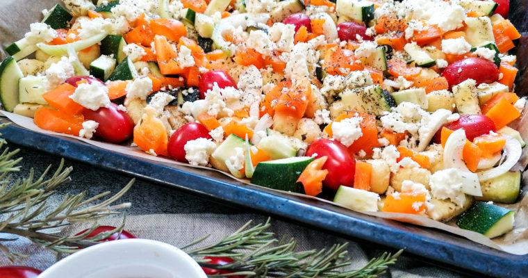 Gnocchi Auflauf mit Gemüse und Schafskäse – vegetarisch