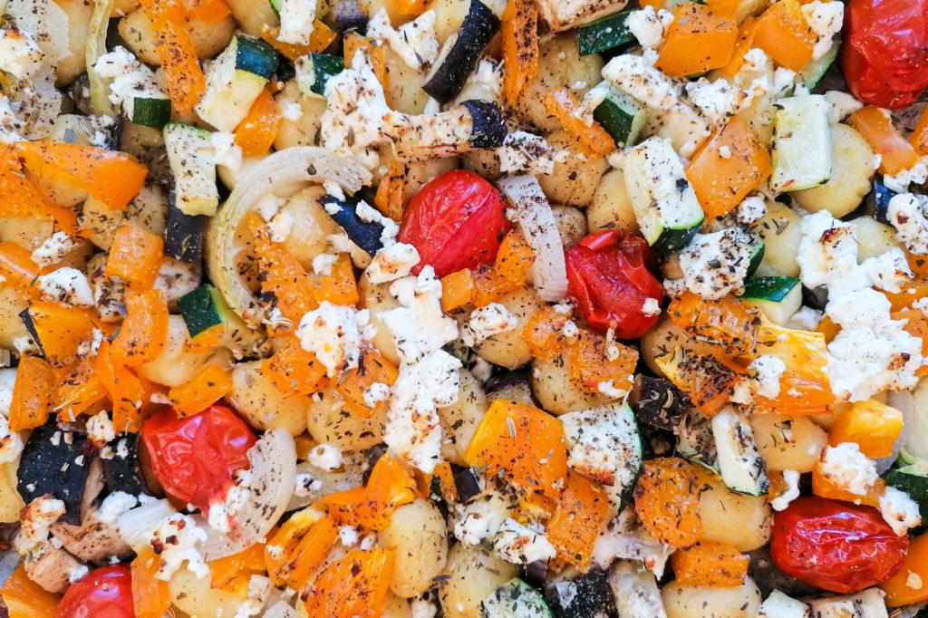 Gnocchi vom Blech mit Gemüse