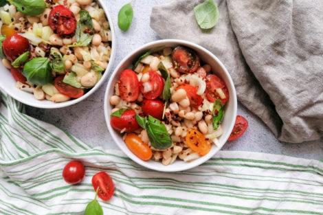 Salat aus weißen Bohnen