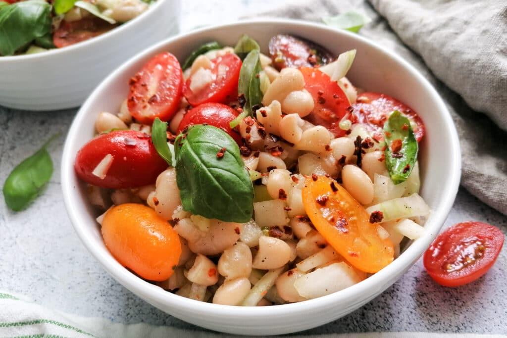 Weiße Bohnen Salat einfach und schnell