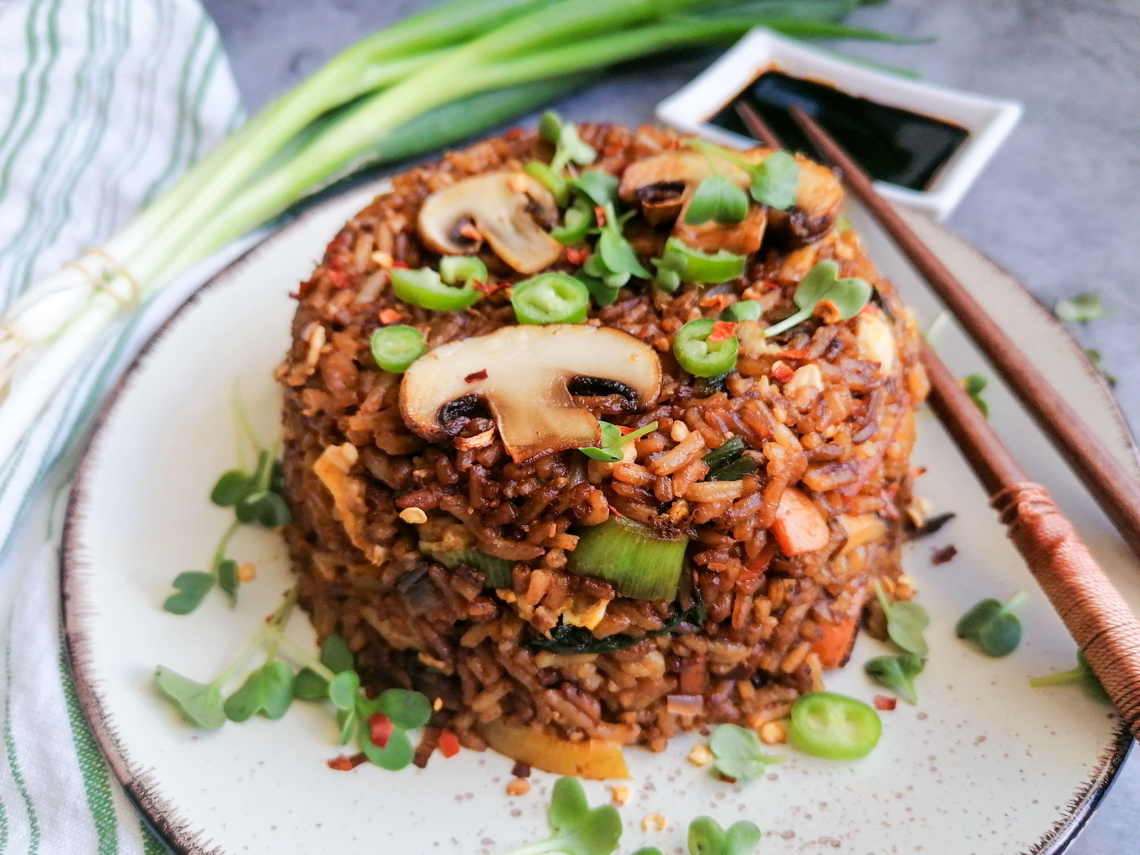Gebratener Reis chinesische Art