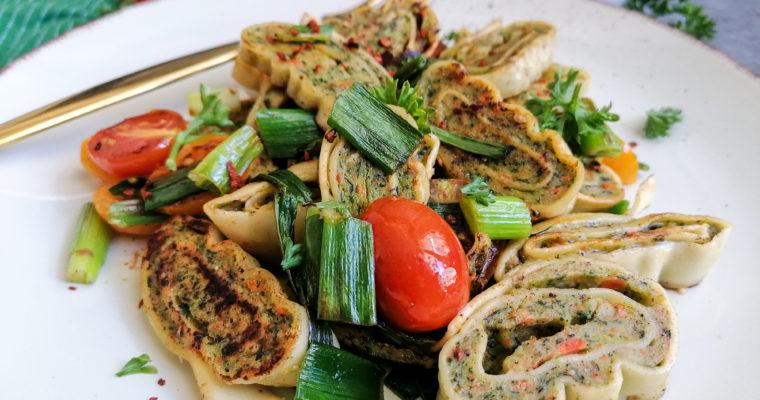 Veggie Maultaschen mit Gemüse