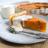 Original amerikanischer Pumpkin Pie Kuchen