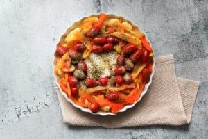 Gnocchi mit Paprika und Tomaten