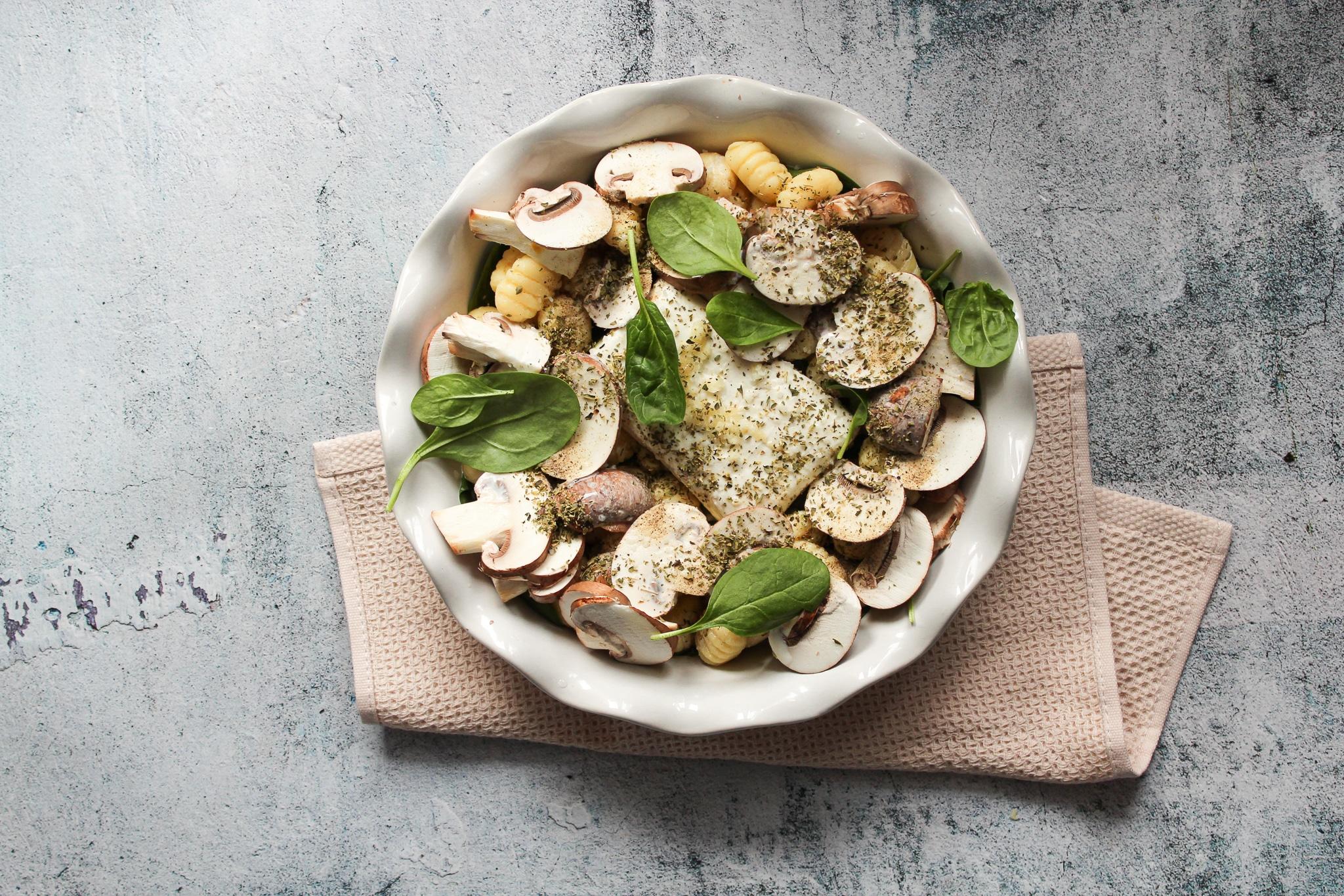 Gnocchi mit Spinat Sahne Soße