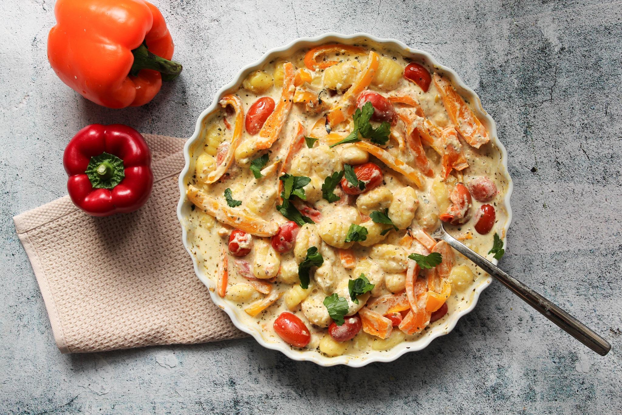 Gnocchi mit Paprika und Feta
