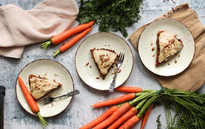 Gesunder Karottenkuchen ohne Zucker und ohne Mehl