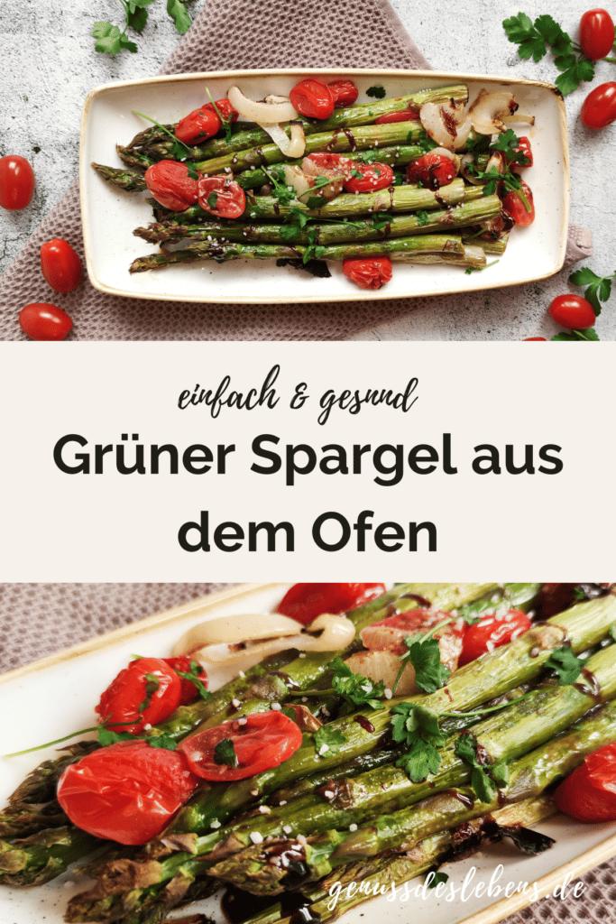 Grüner Spargel Backofen