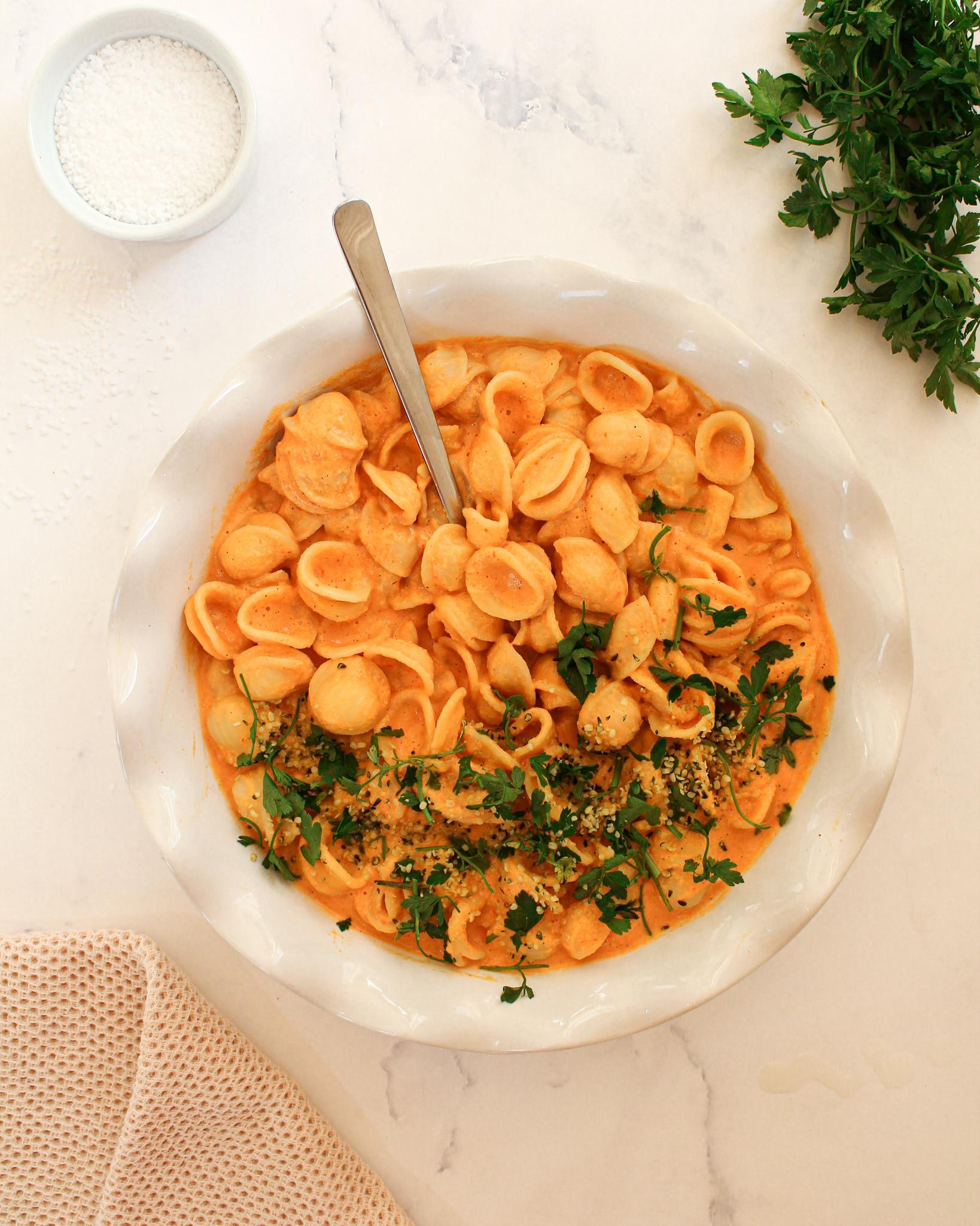 Pasta mit Paprika Soße