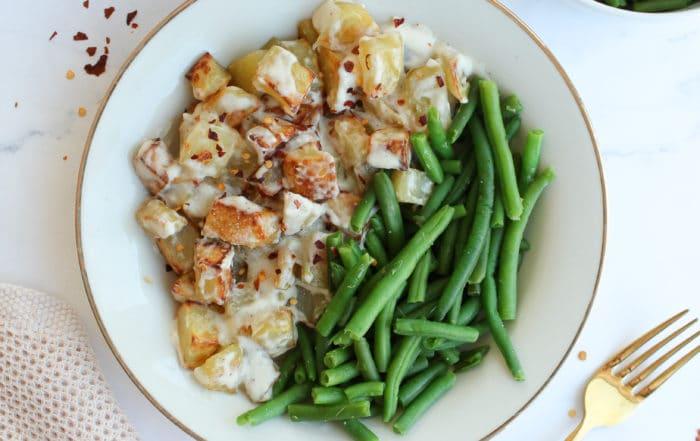 Kartoffelwürfel aus dem Ofen