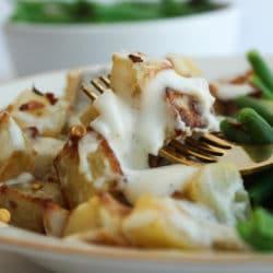 Kartoffeln mit Sahne und Parmesan