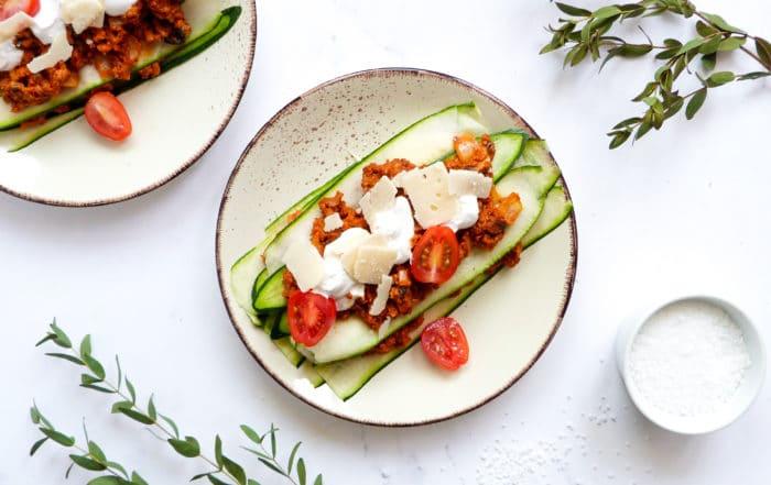 Low carb Lasagne vegetarisch