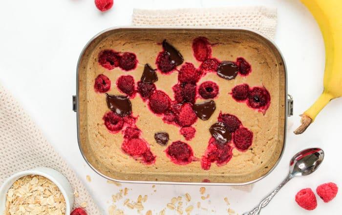 vegane baked oats