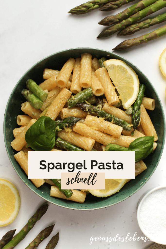 spargel pasta mit zitrone