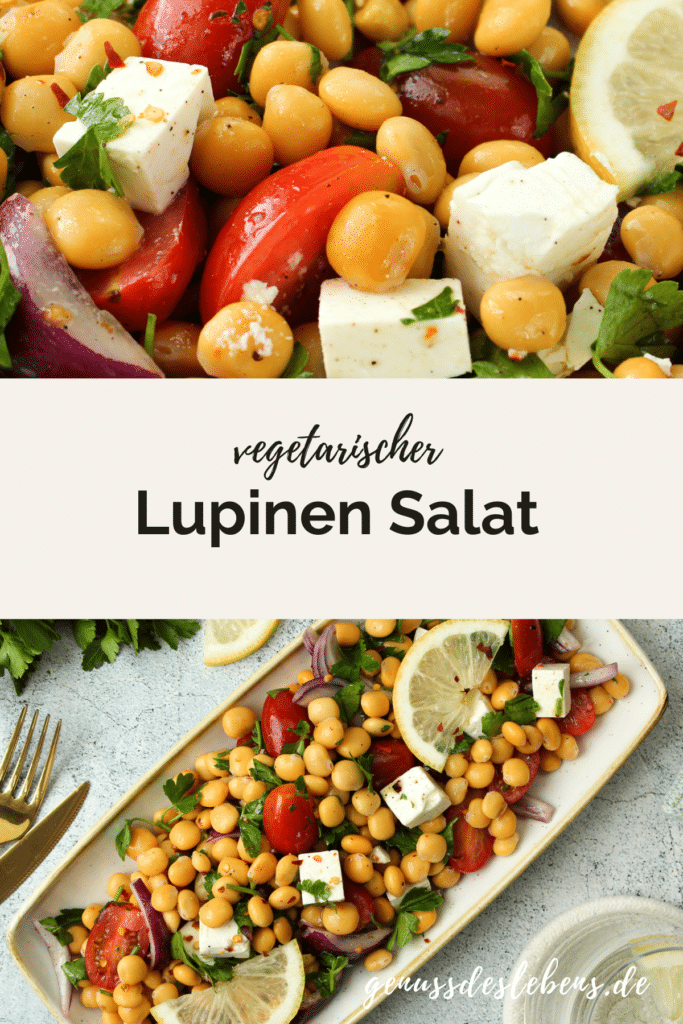 vegetarischer Lupinen Salat
