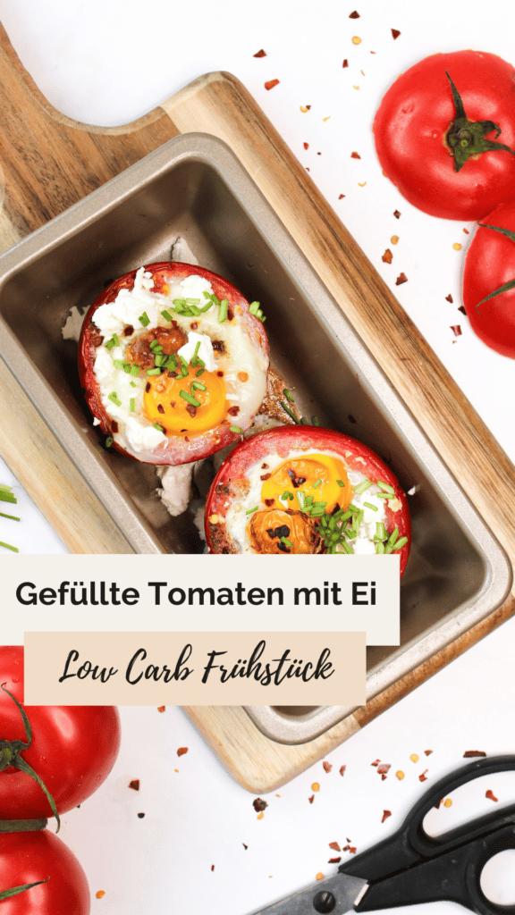 Gefüllte Tomaten mit Ei und Feta