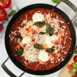 vegetarische Pfannen Lasagne