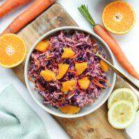 einfacher Rotkohl Salat vegan