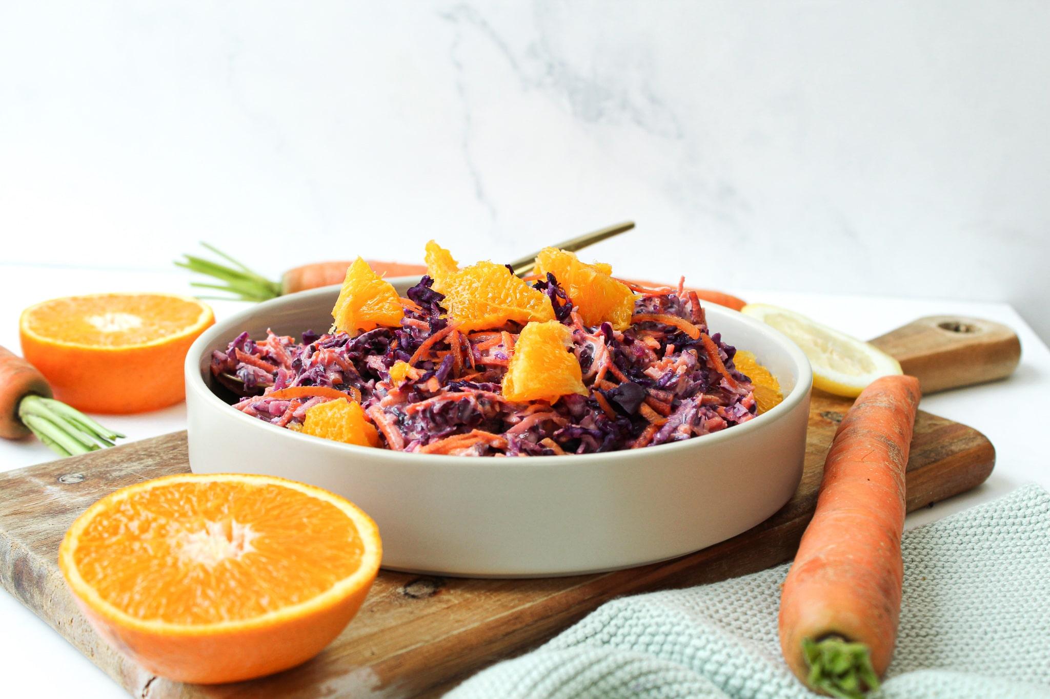 Rotkohl Salat vegan