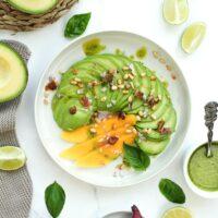 Gemüse Carpaccio mit Avocado