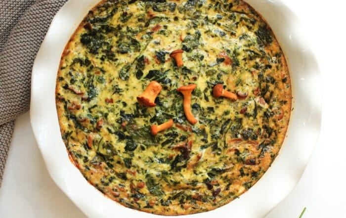 vegetarische Quiche mit Spinat