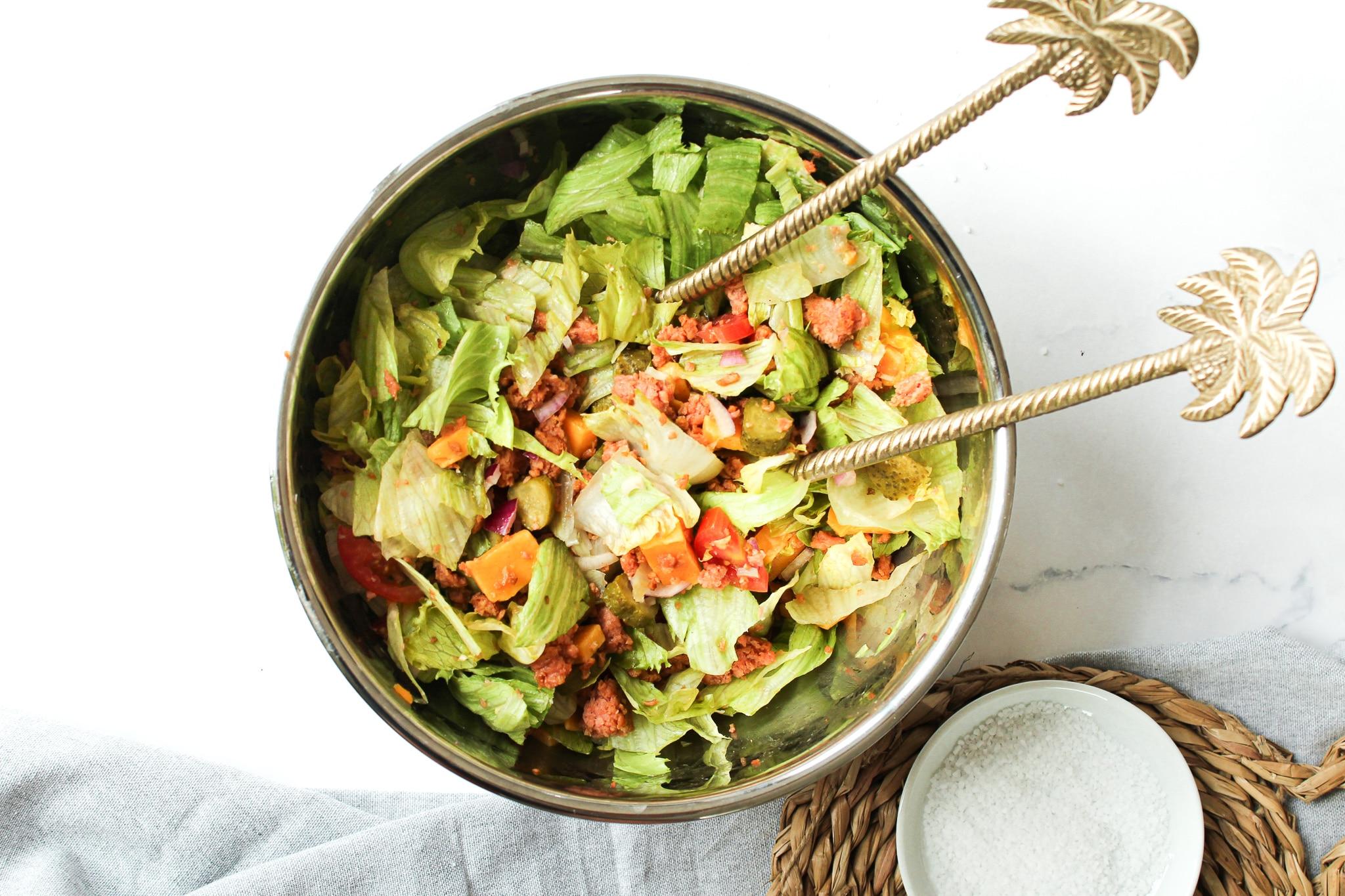 Big Mac Salat vegetarisch