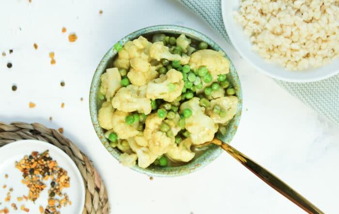 Blumenkohl Curry mit Kokosmilch